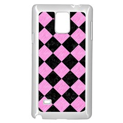 Square2 Black Marble & Pink Colored Pencil Samsung Galaxy Note 4 Case (white)