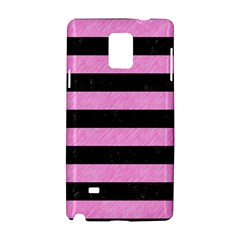 Stripes2 Black Marble & Pink Colored Pencil Samsung Galaxy Note 4 Hardshell Case by trendistuff