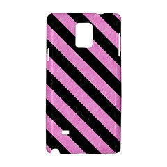 Stripes3 Black Marble & Pink Colored Pencil Samsung Galaxy Note 4 Hardshell Case by trendistuff
