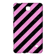 Stripes3 Black Marble & Pink Colored Pencil (r) Samsung Galaxy Tab 4 (7 ) Hardshell Case  by trendistuff