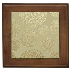 Modern, Gold,polka Dots, Metallic,elegant,chic,hand Painted, Beautiful,contemporary,deocrative,decor Framed Tiles