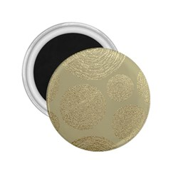 Modern, Gold,polka Dots, Metallic,elegant,chic,hand Painted, Beautiful,contemporary,deocrative,decor 2 25  Magnets