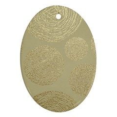 Modern, Gold,polka Dots, Metallic,elegant,chic,hand Painted, Beautiful,contemporary,deocrative,decor Ornament (oval)