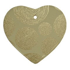Modern, Gold,polka Dots, Metallic,elegant,chic,hand Painted, Beautiful,contemporary,deocrative,decor Ornament (heart)