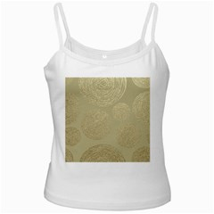 Modern, Gold,polka Dots, Metallic,elegant,chic,hand Painted, Beautiful,contemporary,deocrative,decor White Spaghetti Tank