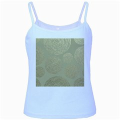 Modern, Gold,polka Dots, Metallic,elegant,chic,hand Painted, Beautiful,contemporary,deocrative,decor Baby Blue Spaghetti Tank