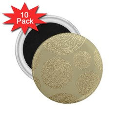 Modern, Gold,polka Dots, Metallic,elegant,chic,hand Painted, Beautiful,contemporary,deocrative,decor 2 25  Magnets (10 Pack)