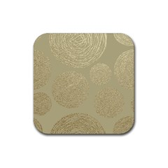 Modern, Gold,polka Dots, Metallic,elegant,chic,hand Painted, Beautiful,contemporary,deocrative,decor Rubber Coaster (square)