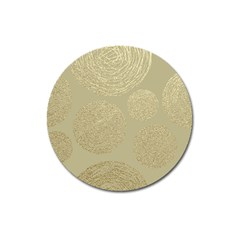 Modern, Gold,polka Dots, Metallic,elegant,chic,hand Painted, Beautiful,contemporary,deocrative,decor Magnet 3  (round) by 8fugoso