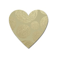 Modern, Gold,polka Dots, Metallic,elegant,chic,hand Painted, Beautiful,contemporary,deocrative,decor Heart Magnet by 8fugoso