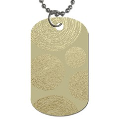 Modern, Gold,polka Dots, Metallic,elegant,chic,hand Painted, Beautiful,contemporary,deocrative,decor Dog Tag (one Side)