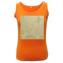 Modern, Gold,polka Dots, Metallic,elegant,chic,hand Painted, Beautiful,contemporary,deocrative,decor Women s Dark Tank Top