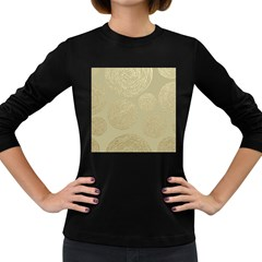 Modern, Gold,polka Dots, Metallic,elegant,chic,hand Painted, Beautiful,contemporary,deocrative,decor Women s Long Sleeve Dark T Shirts