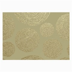 Modern, Gold,polka Dots, Metallic,elegant,chic,hand Painted, Beautiful,contemporary,deocrative,decor Large Glasses Cloth (2 Side)