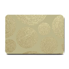 Modern, Gold,polka Dots, Metallic,elegant,chic,hand Painted, Beautiful,contemporary,deocrative,decor Small Doormat