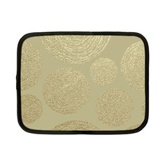 Modern, Gold,polka Dots, Metallic,elegant,chic,hand Painted, Beautiful,contemporary,deocrative,decor Netbook Case (small)