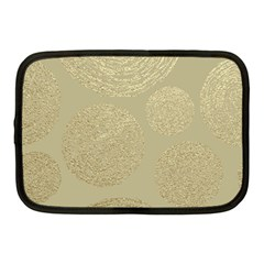 Modern, Gold,polka Dots, Metallic,elegant,chic,hand Painted, Beautiful,contemporary,deocrative,decor Netbook Case (medium)