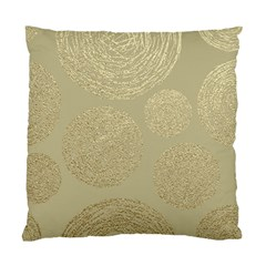 Modern, Gold,polka Dots, Metallic,elegant,chic,hand Painted, Beautiful,contemporary,deocrative,decor Standard Cushion Case (one Side)