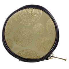Modern, Gold,polka Dots, Metallic,elegant,chic,hand Painted, Beautiful,contemporary,deocrative,decor Mini Makeup Bags