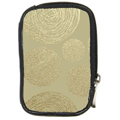 Modern, Gold,polka Dots, Metallic,elegant,chic,hand Painted, Beautiful,contemporary,deocrative,decor Compact Camera Cases
