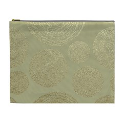 Modern, Gold,polka Dots, Metallic,elegant,chic,hand Painted, Beautiful,contemporary,deocrative,decor Cosmetic Bag (xl)