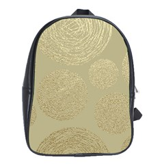 Modern, Gold,polka Dots, Metallic,elegant,chic,hand Painted, Beautiful,contemporary,deocrative,decor School Bag (large)
