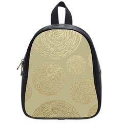 Modern, Gold,polka Dots, Metallic,elegant,chic,hand Painted, Beautiful,contemporary,deocrative,decor School Bag (small)