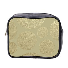 Modern, Gold,polka Dots, Metallic,elegant,chic,hand Painted, Beautiful,contemporary,deocrative,decor Mini Toiletries Bag 2 Side