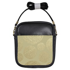 Modern, Gold,polka Dots, Metallic,elegant,chic,hand Painted, Beautiful,contemporary,deocrative,decor Girls Sling Bags by 8fugoso