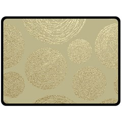 Modern, Gold,polka Dots, Metallic,elegant,chic,hand Painted, Beautiful,contemporary,deocrative,decor Fleece Blanket (large)