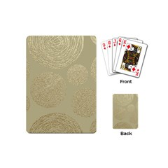 Modern, Gold,polka Dots, Metallic,elegant,chic,hand Painted, Beautiful,contemporary,deocrative,decor Playing Cards (mini)