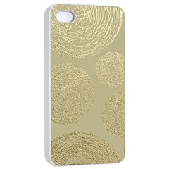 Modern, Gold,polka Dots, Metallic,elegant,chic,hand Painted, Beautiful,contemporary,deocrative,decor Apple Iphone 4/4s Seamless Case (white)