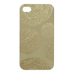 Modern, Gold,polka Dots, Metallic,elegant,chic,hand Painted, Beautiful,contemporary,deocrative,decor Apple Iphone 4/4s Hardshell Case by 8fugoso