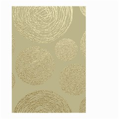 Modern, Gold,polka Dots, Metallic,elegant,chic,hand Painted, Beautiful,contemporary,deocrative,decor Small Garden Flag (two Sides)