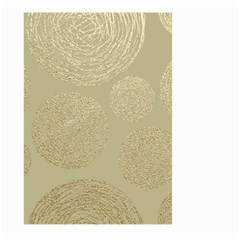 Modern, Gold,polka Dots, Metallic,elegant,chic,hand Painted, Beautiful,contemporary,deocrative,decor Large Garden Flag (two Sides)