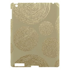 Modern, Gold,polka Dots, Metallic,elegant,chic,hand Painted, Beautiful,contemporary,deocrative,decor Apple Ipad 3/4 Hardshell Case by 8fugoso