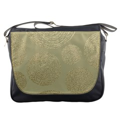 Modern, Gold,polka Dots, Metallic,elegant,chic,hand Painted, Beautiful,contemporary,deocrative,decor Messenger Bags