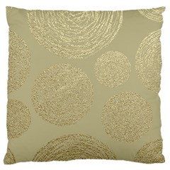 Modern, Gold,polka Dots, Metallic,elegant,chic,hand Painted, Beautiful,contemporary,deocrative,decor Large Cushion Case (two Sides) by 8fugoso