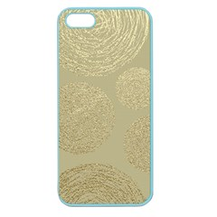 Modern, Gold,polka Dots, Metallic,elegant,chic,hand Painted, Beautiful,contemporary,deocrative,decor Apple Seamless Iphone 5 Case (color)