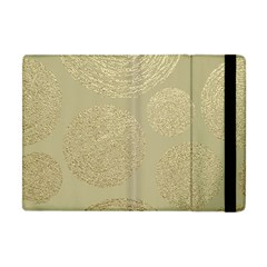 Modern, Gold,polka Dots, Metallic,elegant,chic,hand Painted, Beautiful,contemporary,deocrative,decor Apple Ipad Mini Flip Case