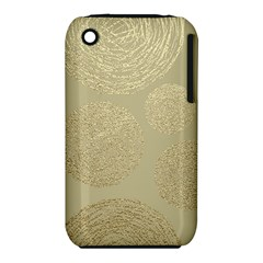 Modern, Gold,polka Dots, Metallic,elegant,chic,hand Painted, Beautiful,contemporary,deocrative,decor Iphone 3s/3gs by 8fugoso