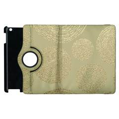 Modern, Gold,polka Dots, Metallic,elegant,chic,hand Painted, Beautiful,contemporary,deocrative,decor Apple Ipad 2 Flip 360 Case by 8fugoso