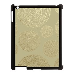 Modern, Gold,polka Dots, Metallic,elegant,chic,hand Painted, Beautiful,contemporary,deocrative,decor Apple Ipad 3/4 Case (black)