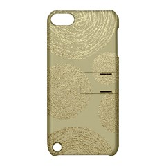 Modern, Gold,polka Dots, Metallic,elegant,chic,hand Painted, Beautiful,contemporary,deocrative,decor Apple Ipod Touch 5 Hardshell Case With Stand