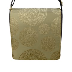 Modern, Gold,polka Dots, Metallic,elegant,chic,hand Painted, Beautiful,contemporary,deocrative,decor Flap Messenger Bag (l)