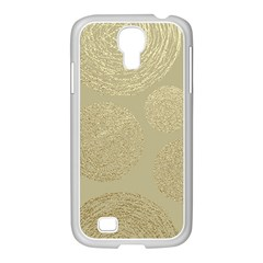 Modern, Gold,polka Dots, Metallic,elegant,chic,hand Painted, Beautiful,contemporary,deocrative,decor Samsung Galaxy S4 I9500/ I9505 Case (white)