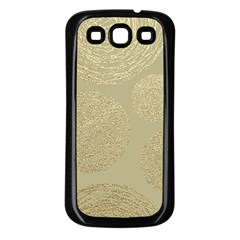 Modern, Gold,polka Dots, Metallic,elegant,chic,hand Painted, Beautiful,contemporary,deocrative,decor Samsung Galaxy S3 Back Case (black)