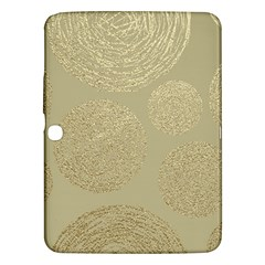 Modern, Gold,polka Dots, Metallic,elegant,chic,hand Painted, Beautiful,contemporary,deocrative,decor Samsung Galaxy Tab 3 (10 1 ) P5200 Hardshell Case