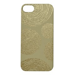 Modern, Gold,polka Dots, Metallic,elegant,chic,hand Painted, Beautiful,contemporary,deocrative,decor Apple Iphone 5s/ Se Hardshell Case