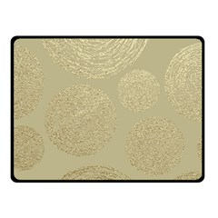 Modern, Gold,polka Dots, Metallic,elegant,chic,hand Painted, Beautiful,contemporary,deocrative,decor Double Sided Fleece Blanket (small)